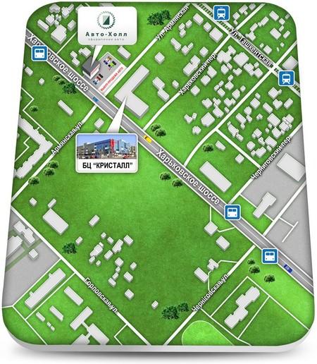 Карта проезда к Авто-Холл
